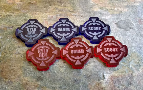 X-Wing,Custom,Target,Lock,Pair,x-wing xwing miniatures game tokens counters acrylic laser cut