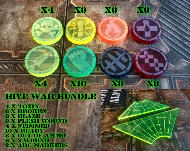 Hive War Token Set (58 tokens + 2 arcs) - product images  of