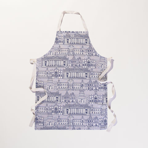 'Edinburgh,Illustration',Apron,-,Wexford,Linen,Braw Scotland, Edinburgh, Skyline, National Gallery, General Register House, National Library, St Giles, Cathedral, Wexford Linen, Apron, UK Made, Textile, Scotland, braw scotland, braw, scottish, home accessories, homewares