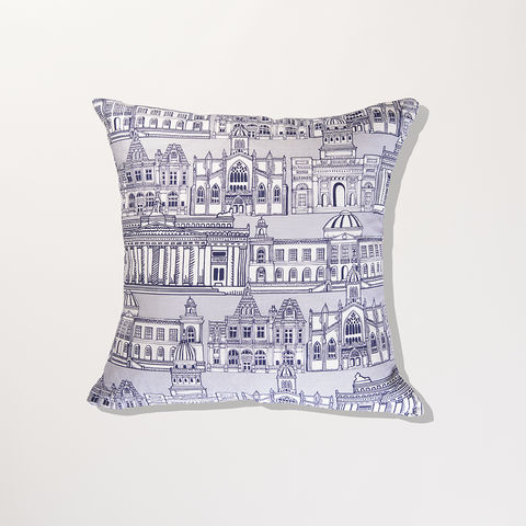 'Edinburgh,Illustration',Cushion,Cover,-,Wexford,Linen,braw scotland, braw, scottish, home accessories, homewares, Edinburgh, Skyline, National Gallery, General Register House, National Library, St Giles, Cathedral, Wexford Linen, Cushion Cover, UK Made, Textile, Scotland