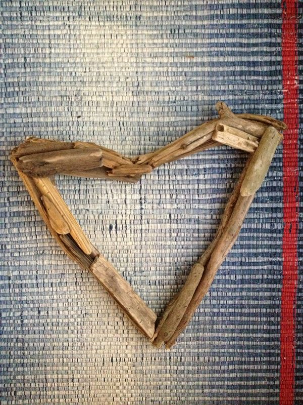 Driftwood Open Heart Door Decor, Wreath, Wall Art - product images  of