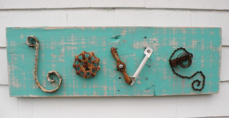 Salvaged Love Sign...in the middle - product images  of