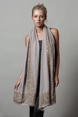 Glimmer,scarf,cashmere scarf, cashmere scarves, sequins