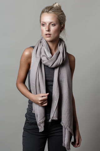 Silver,Strip,cashmere scarf, lurex, silver, woven border, steel, baby diamond 70cm x 200cm, wardrobe staple, wardrobe edits
