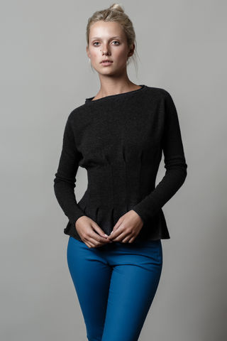 Lauretta,sweater, sweater, pin tucks, cashmere