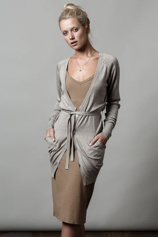 Spenny,Cardigan,cardigan, silk cotton, sage, long, belted