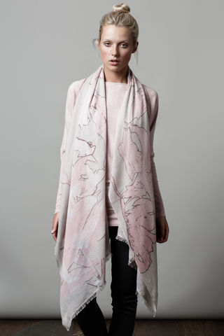 Big,Flower,Scarf,print scarf, flower print, baby diamond, cashmere, big flower, Sian Jacobs, Irish design, designers, winter wear, autumn wear, style, fashion, womens wear, everyday wear