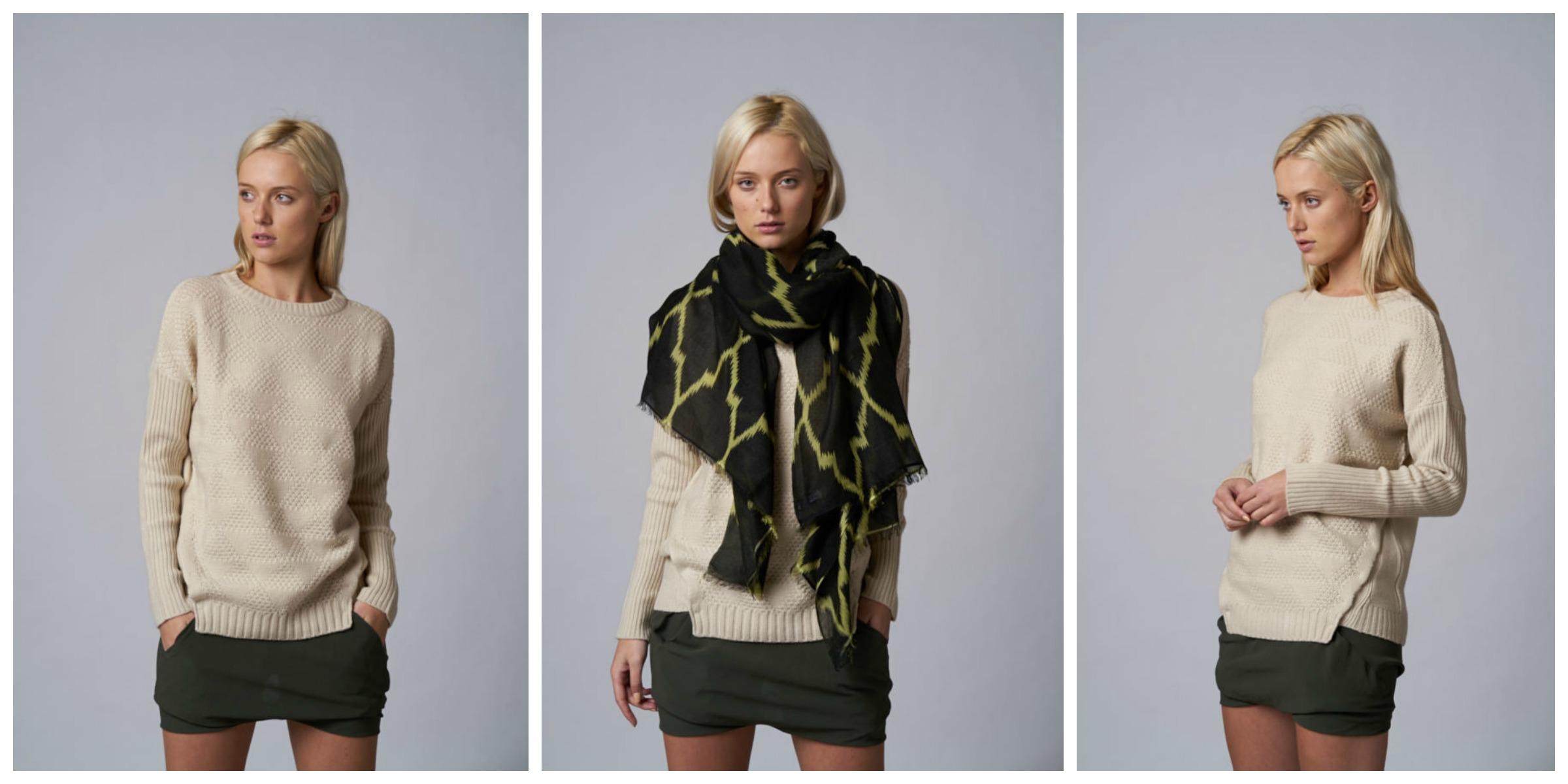 Sweater scarf winter fashion style