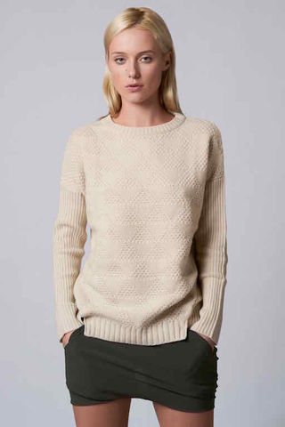 Jilly,Sweater,jumper,aran sweater, ecru,  cashmere, wool round neck, rib sleeve, cable knit