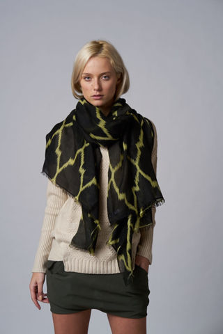 Verena,scarf,Sian Jacobs, scarf, arabesque design, motif, cashmere silk, fashion, autumn, winter, collection, accessories,