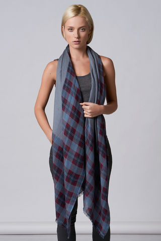 Stewart,scarf,check scarf, plaid, scottish, design, cashmere wool, twill, tartan