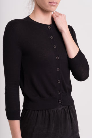 Saint,cardi, cardigan , saint, crew neck, button top, cashmere silk