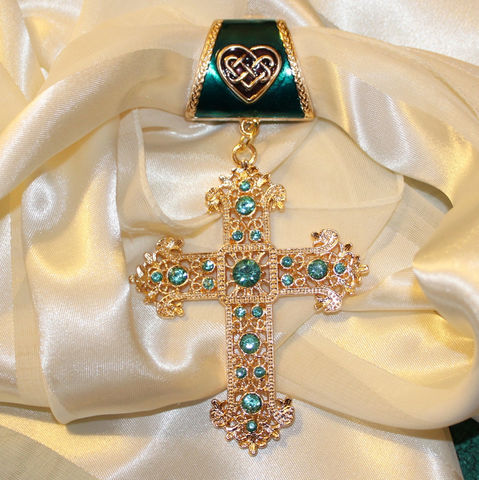 Celtic,Heart,Scarf,Pendant,with,Aqua,Rhinestone,Cross,~,and,Gold,Accessory~,Jewelry,Accessories,scarf_charm,scarf_accessory,scarf_pendant,scarf_jewelry,crystal_cross,rhinestone_cross,cross_pendant,scarf_slide,scarf_bling,religious_jewelry,aqua_crystal,Celtic_heart,enameled_jewelry,large rhinestone cross,fancy Celtic heart bail with