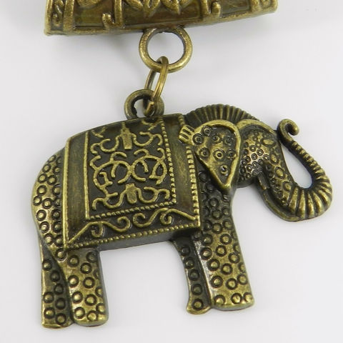 Bronze,Elephant,Scarf,Pendant,~,Accessory,Accessories,scarf_charm,scarf_accessory,scarf_pendant,clothing_accessory,elephant_pendant,elephant_jewelry,antique_brass,Indian_elephant,blanketed_elephant,bail,jump rings,love,design,creativity,elephant charm