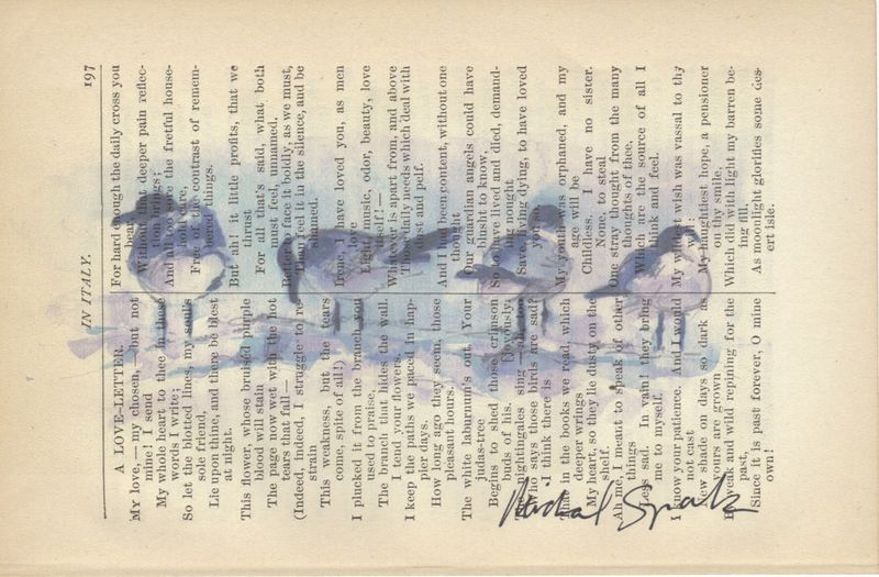 Sea Gulls in the Wind, Watercolor Printed on Antique Book Page - product images  of