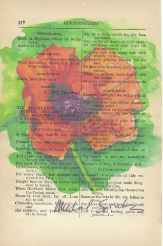 Red,Poppy,Watercolor,Printed,on,Antique,Book,Page,Art,Painting,Print,watercolor_art,red_flower_art,floral_art,flower_print,art_print,book_page_print,red_poppy_painting,watercolor_flower,illustration,flower_illustration,floral_print,poppy_painting,aclever_spark,watercolor,antique_book_page