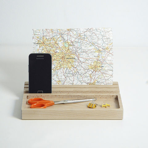Wood,Desk,Tidy,/,iPad,stand,from,Chocolate,Creative
