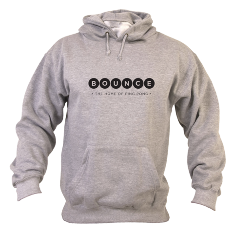 Bounce,'Home,of,Ping,Pong',Hoodie,Unisex,Grey, Home of Ping Pong, Hoodie, Unisex, Grey, Ping Pong Club, Table Tennis Club, London, Holborn