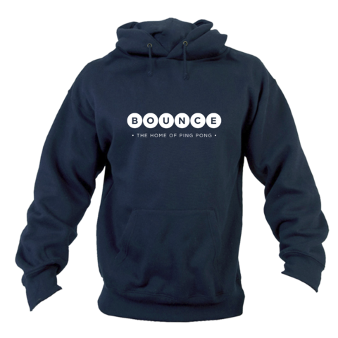 Bounce,'Home,of,Ping,Pong',Hoodie,Unisex,Blue, Home of Ping Pong, Hoodie, Unisex, Blue, Ping Pong Club, Table Tennis Club, Holborn, London
