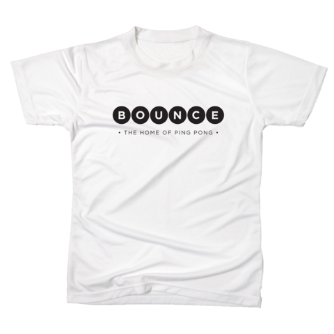Bounce,'Home,of,Ping,Pong',Tshirt,Men's,White, Home of Ping Pong, Tshirt, Men's, White, Ping Pong Club, Table Tennis Club, London, Holborn