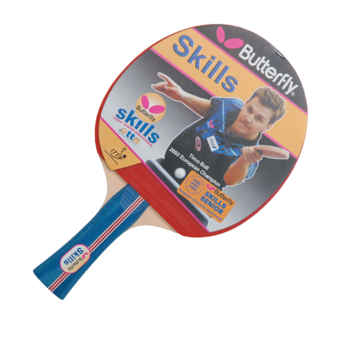 Butterfly,Skills,Senior,Table,Tennis,Bat