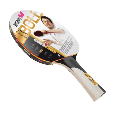 Butterfly,Timo,Boll,Gold,Table,Tennis,Bat