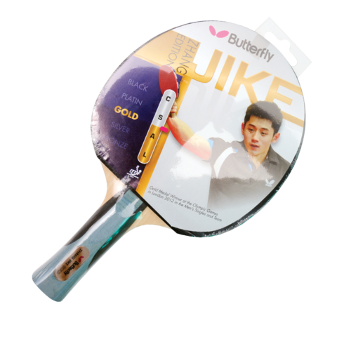 Zhang,Jike,Gold,Table,Tennis,Bat