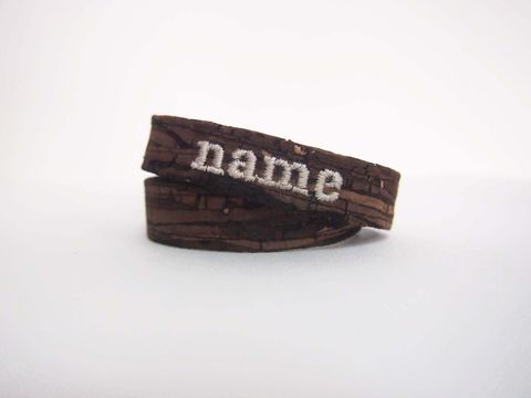 Paralife,Personalized,YOUR,NAME's,Wooden,Grain,Cork,Bracelet