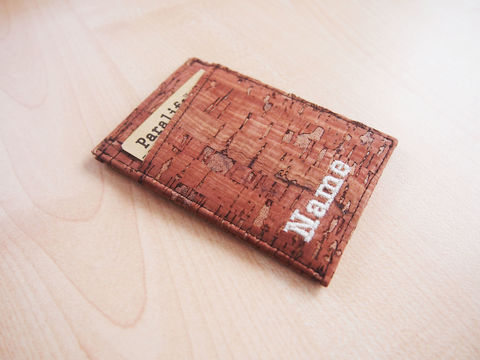 Cork,Stripe,Card,Wallet,Card Wallet