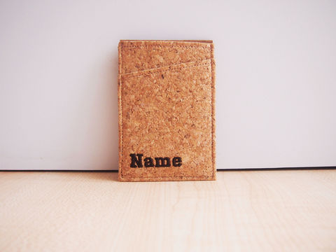 Cork,Card,Wallet,Card Wallet, Wallet Card Case Badge Holder