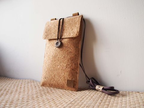 Cork,phone,bag,(vertical),(custom,made,for,any,model)
