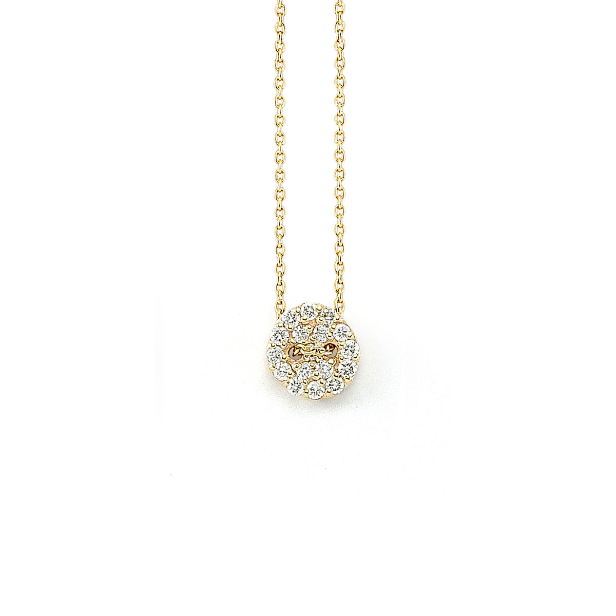 Diamond Button Necklace - product image