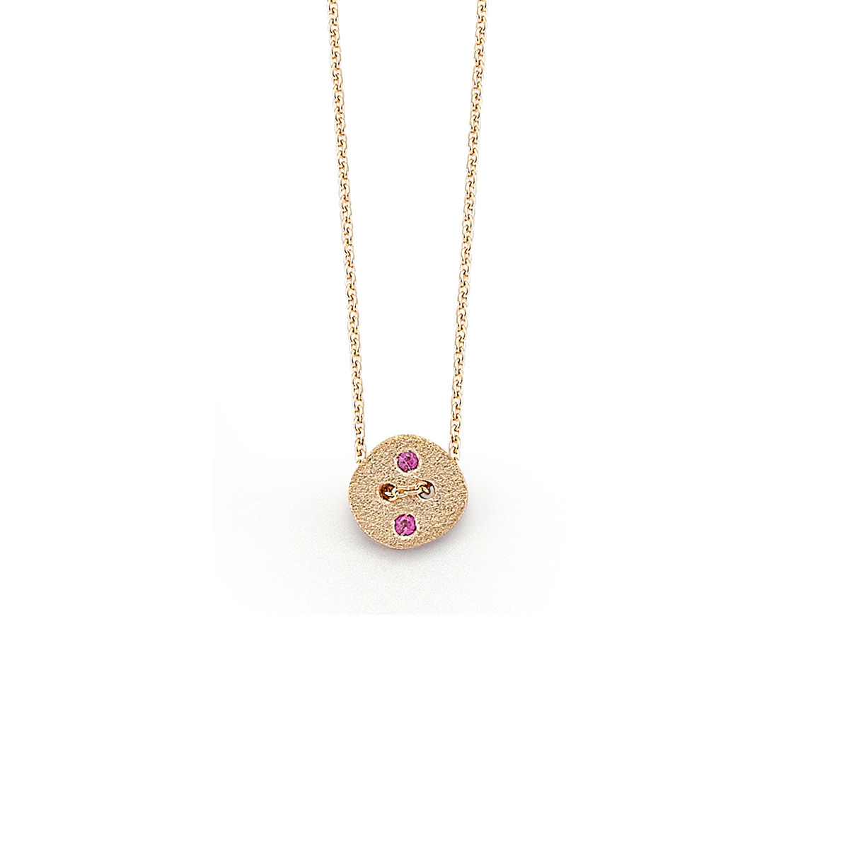Pink Button Necklace - product image