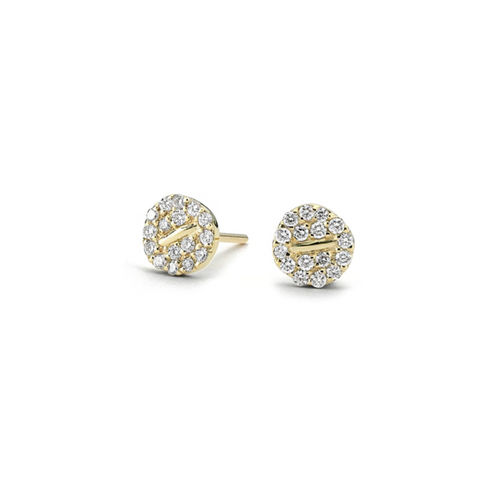 Diamond,Button,Earrings