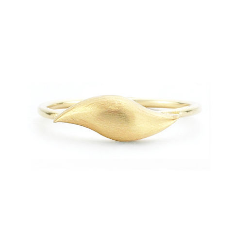 Flow,Brushed,Gold,Ring