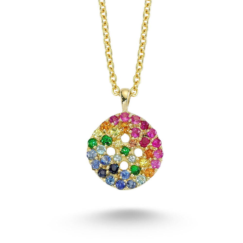 Rainbow Button Necklace - product images  of
