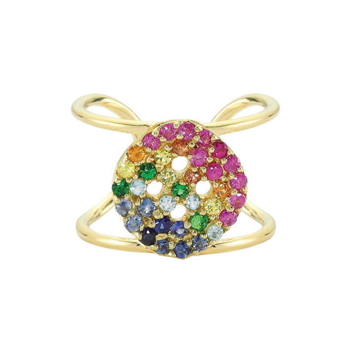 Rainbow Button Ring - product images  of