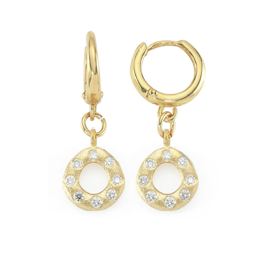 Oval Diamond Earrings - product image