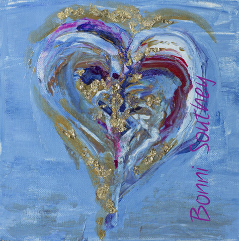 Whimsical,Heart,Bonni Southey, Healing art, psychic art, meditative art, intuitive art, colour therapy, theta healing art, angel art, limited edition prints, acrylic painting, art therapy, colour meaning, symbolism, heart art, whimsical heart, irreverent