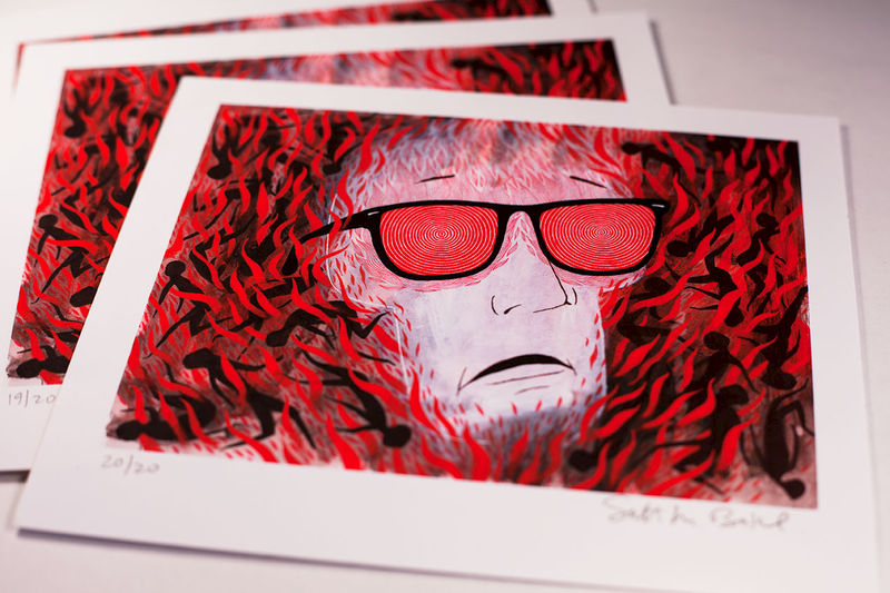 X-Ray Glasses : Creepythread Limited Edition Mini-Print - product image