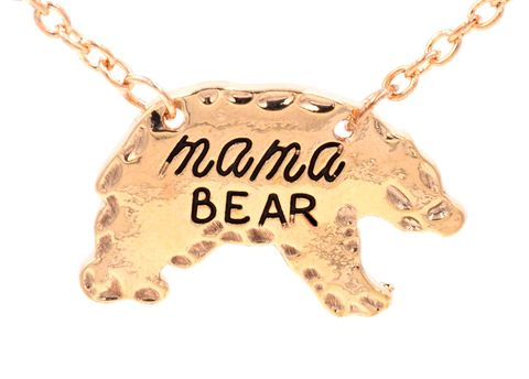 Gold,Tone,Mama,Bear,Polar,Necklace,16'',-,18'',Cute,and,Sweet,Design,(in,organza,bag),Gold Tone Mama Bear Polar Bear Necklace 16'' - 18'' Cute and Sweet Design (in organza bag)