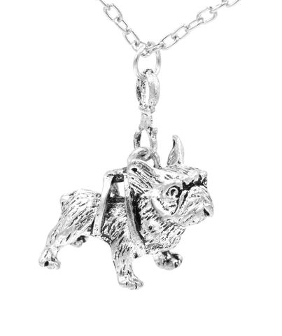 Antique,Silver,Tone,Little,Bulldog,Pendant,Necklace,with,Intricate,Details,-,Cute,and,Quirky,Jewellery,(in,organza,bag),Antique Silver Tone Little Bulldog Pendant Necklace with Intricate Details - Cute and Quirky Jewellery (in organza bag)