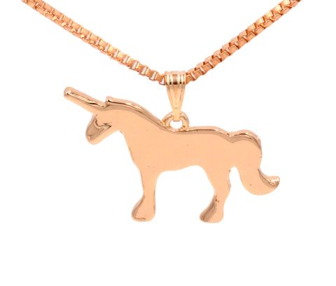 Gold,Plated,Little,Unicorn,Pendant,Necklace,-,20'',Cute,and,Quirky,(in,organza,bag),Gold Plated Little Unicorn Pendant Necklace - 20'' - Cute and Quirky  (in organza bag)