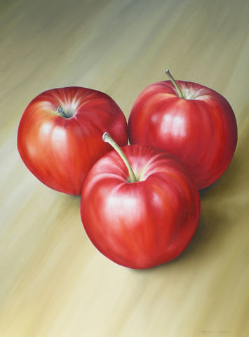 Apples,(original),apples, fruit, oil painting, apples painting