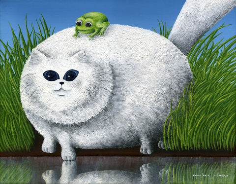 Fat,Cat,With,Frog,(original)