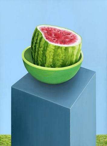 Watermelon,on,a,Stand,(original),$250,reduced,to,$190!,watermelon