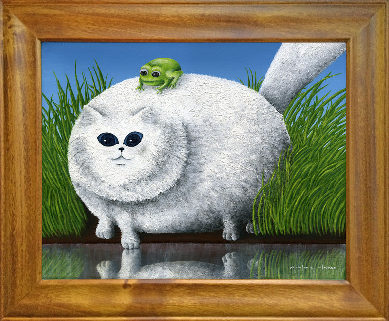 Fat Cat With Frog (original) - product images  of