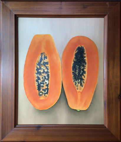 Sweet,Papaya,(embellished,giclee,print,,framed)