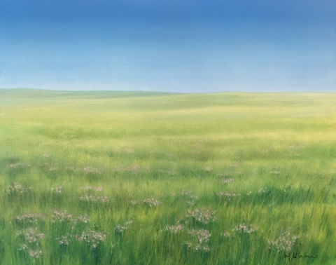 Sky,and,Flowers,(original),$300,reduced,to,$290!, hillside, texas, sky, prairie, landscape, nature, flowers