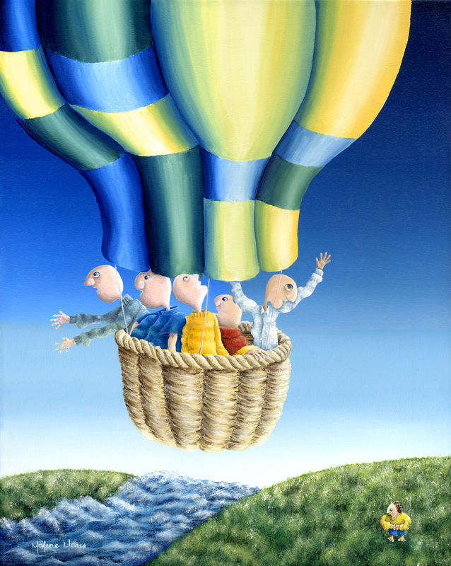 Trip in the Hot Air Balloon (print) - product images